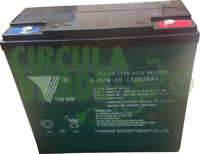 Baterías 12V-20Ah selladas de plomo acido ciclo profundo c/u