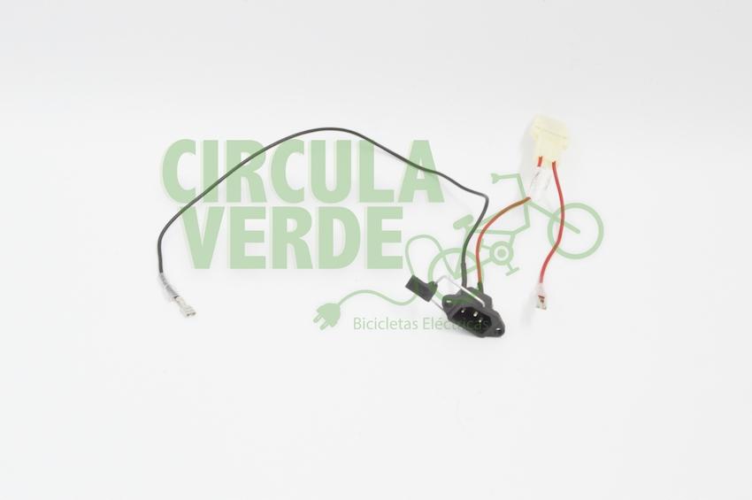 Cable conexión y porta fusibles par batería