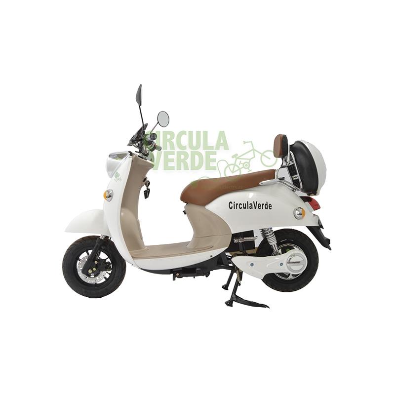Bicicleta Eléctrica Moped 800 Blanca