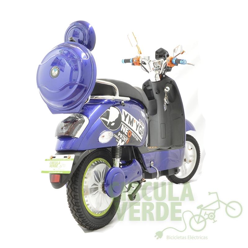 Bicicleta Eléctrica Moped 500 Azul