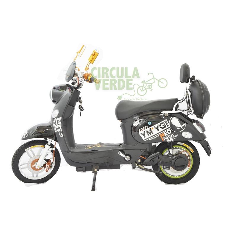 Bicicleta Eléctrica Moped 500 Negra