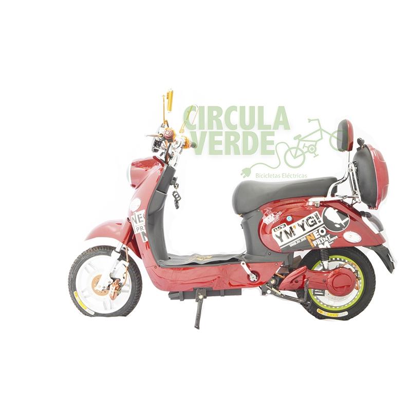 Bicicleta Eléctrica Moped 500 Roja